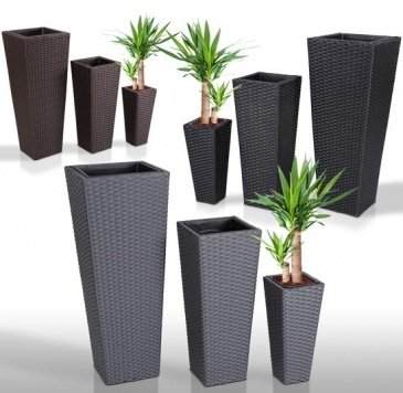 Rotan bloempotten for Grand pot plante exterieur